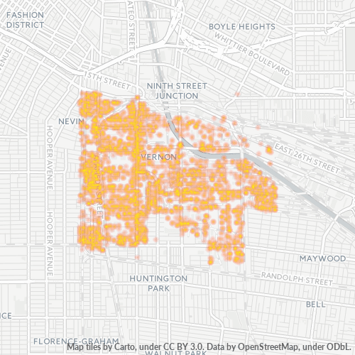 90058 Business Density Heatmap
