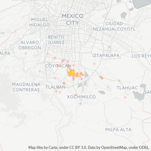 04890 Mapa de calor de densidad empresarial