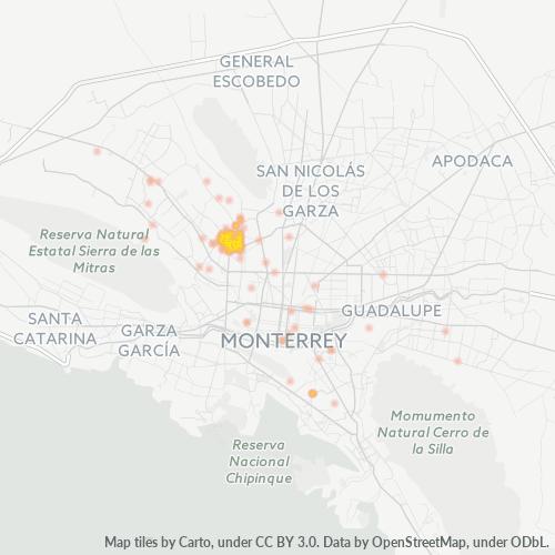 64180 Mapa de calor de densidad empresarial