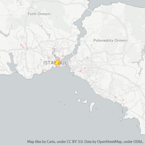 34134 Şirket Yoğunluğu Isı Haritası