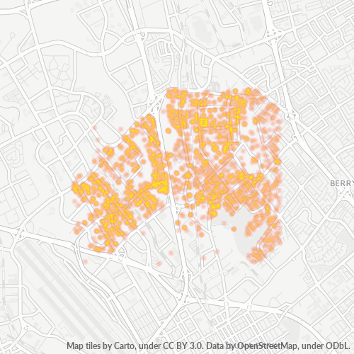 95131 Business Density Heatmap