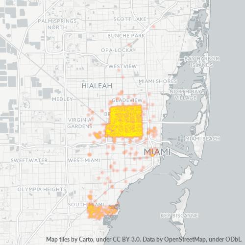 33142 Business Density Heatmap