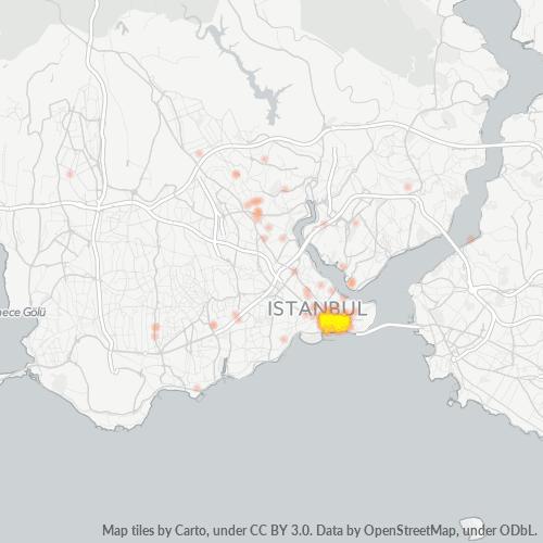 34130 Şirket Yoğunluğu Isı Haritası
