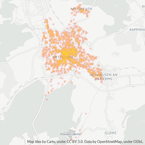72555 Standortdichte-Heatmap