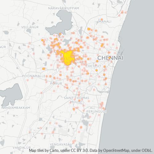 600050 Business Density Heatmap