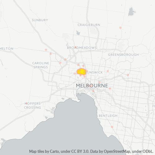 3039 Business Density Heatmap