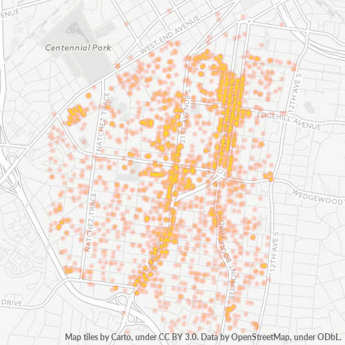 37212 Business Density Heatmap