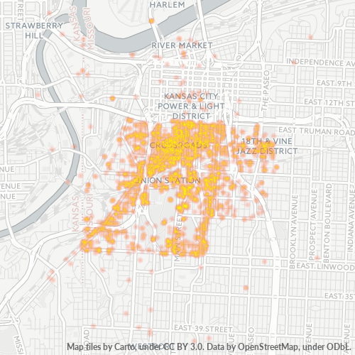 64108 Business Density Heatmap