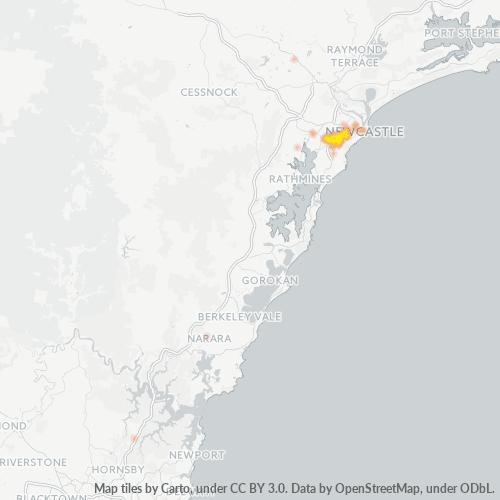 2289 Business Density Heatmap
