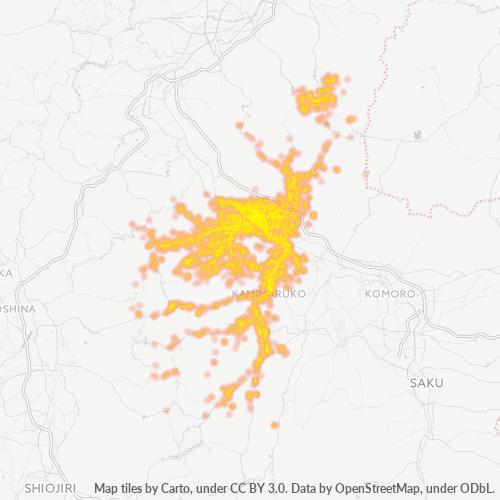 386 事業密度ヒートマップ