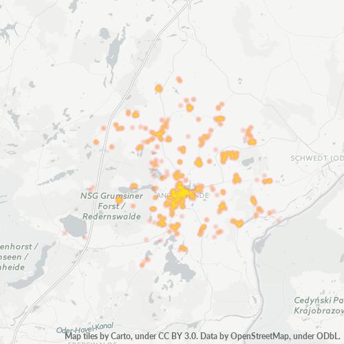 16278 Standortdichte-Heatmap