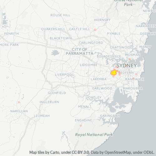 2049 Business Density Heatmap
