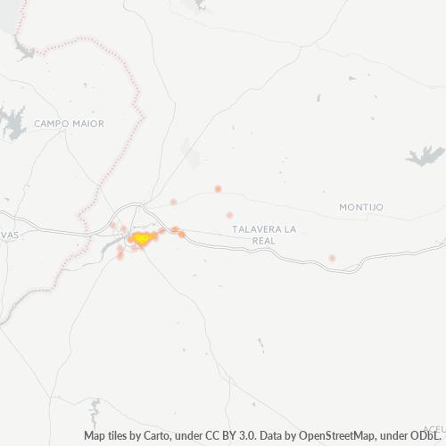 06008 Mapa de calor de densidad empresarial