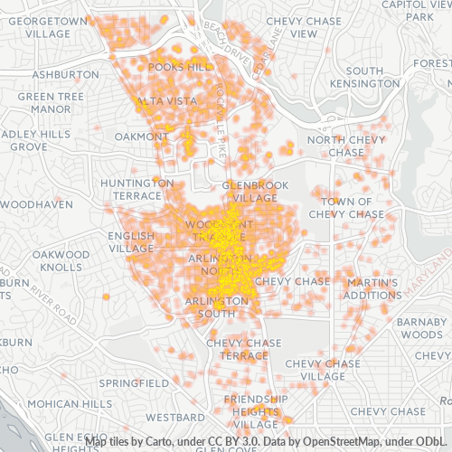 20814 Business Density Heatmap