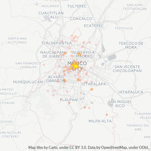 06090 Mapa de calor de densidad empresarial