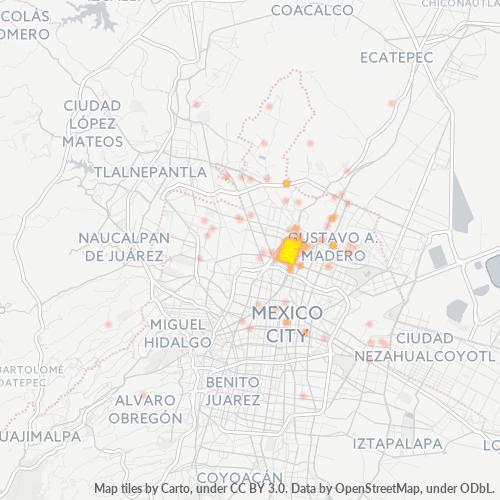 07800 Mapa de calor de densidad empresarial