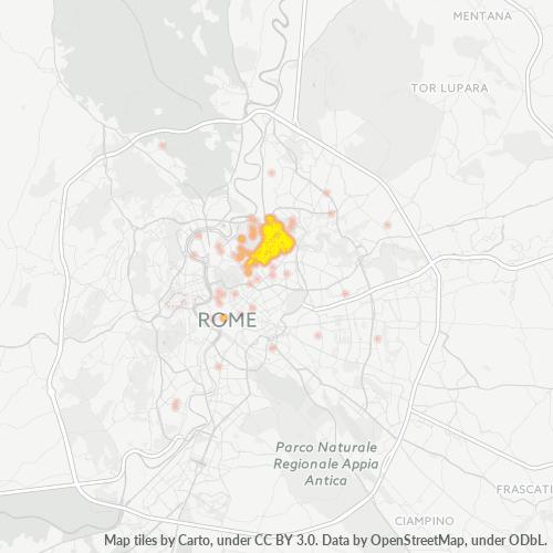 00199 Mappa di concentrazione per la densità di aziende