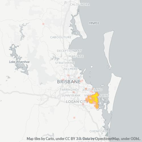 4165 Business Density Heatmap
