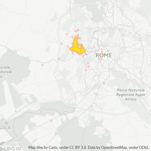 00167 Mappa di concentrazione per la densità di aziende