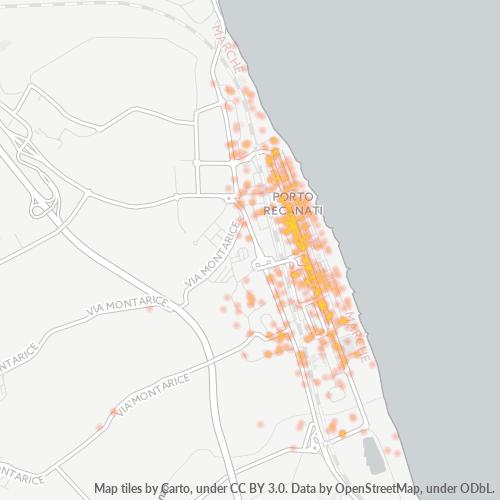 62017 Mappa di concentrazione per la densità di aziende