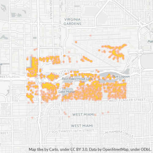 33126 Business Density Heatmap
