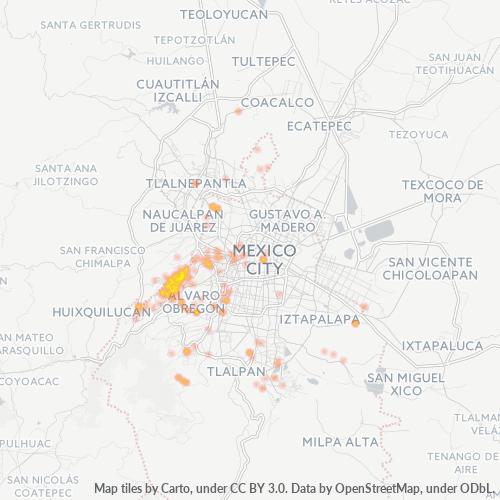 11700 Mapa de calor de densidad empresarial