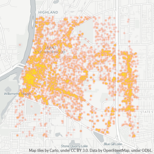 97301 Business Density Heatmap
