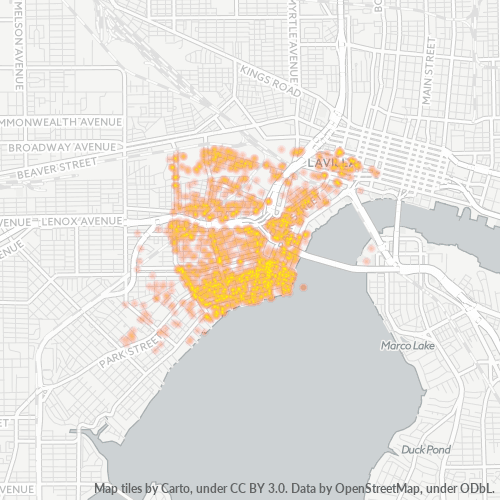 32204 Business Density Heatmap