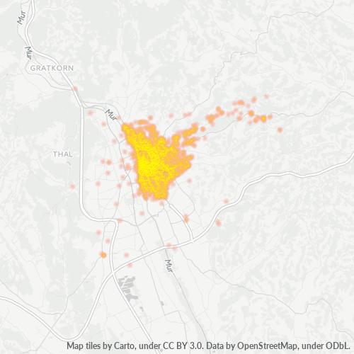 8010 Standortdichte-Heatmap