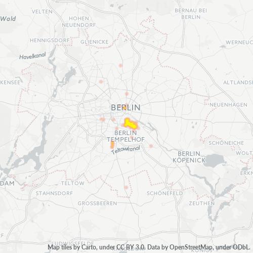 10999 Standortdichte-Heatmap