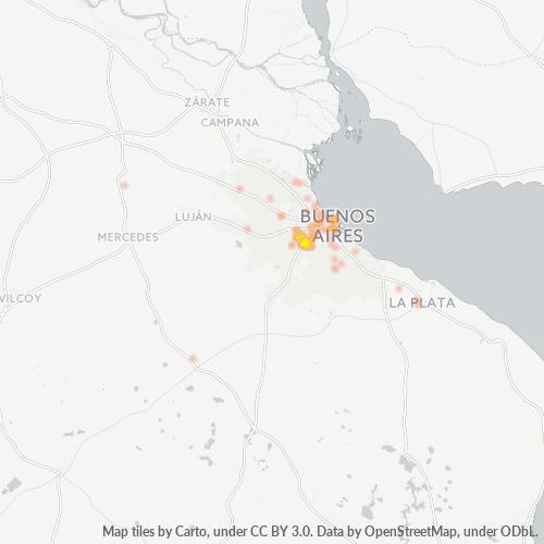 1766 Mapa de calor de densidad empresarial