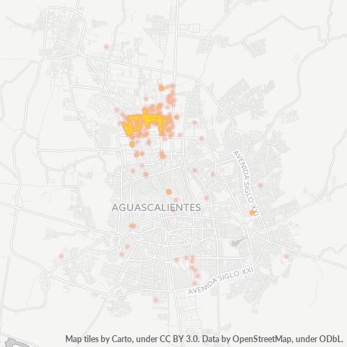20120 Mapa de calor de densidad empresarial