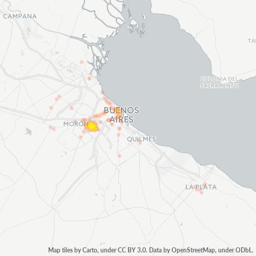 1752 Mapa de calor de densidad empresarial