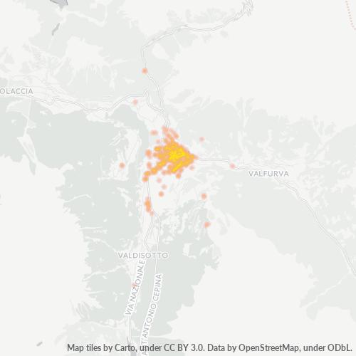 23032 Mappa di concentrazione per la densità di aziende