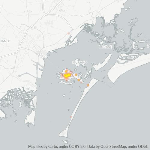 30125 Mappa di concentrazione per la densità di aziende