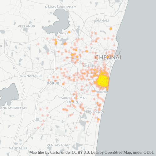 600004 Business Density Heatmap