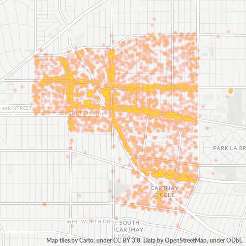 90048 Business Density Heatmap