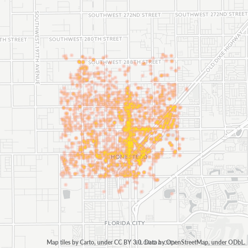 33030 Business Density Heatmap
