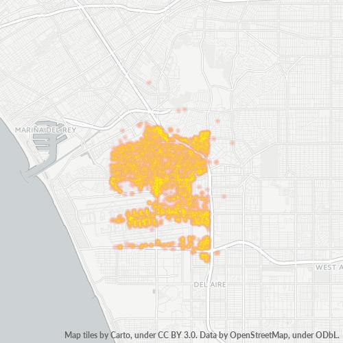90045 Business Density Heatmap