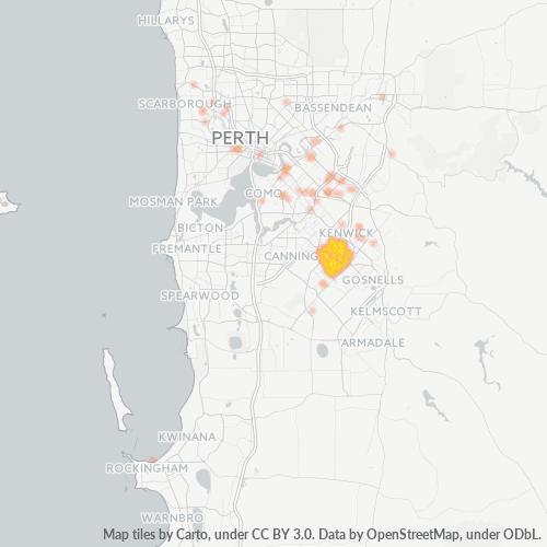 6108 Business Density Heatmap