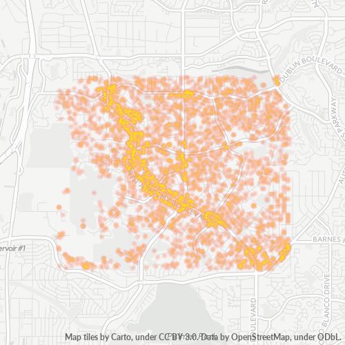 80918 Business Density Heatmap