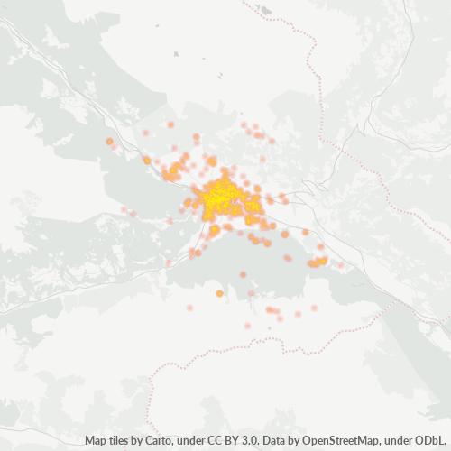 9900 Standortdichte-Heatmap