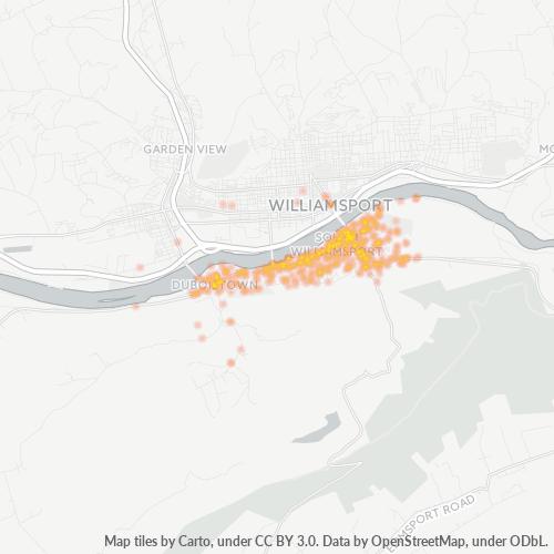 17702 Business Density Heatmap