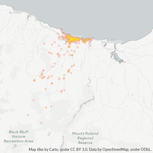 7315 Business Density Heatmap