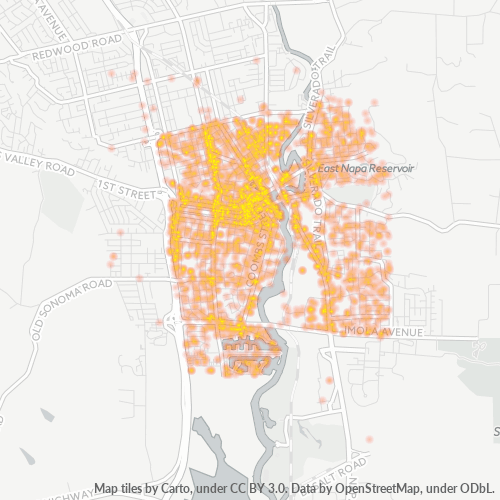 94559 Business Density Heatmap