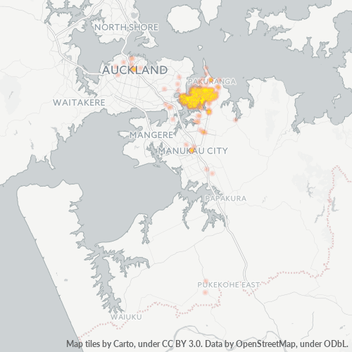 2010 Business Density Heatmap