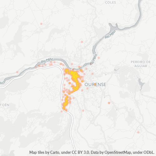 32002 Mapa de calor de densidad empresarial