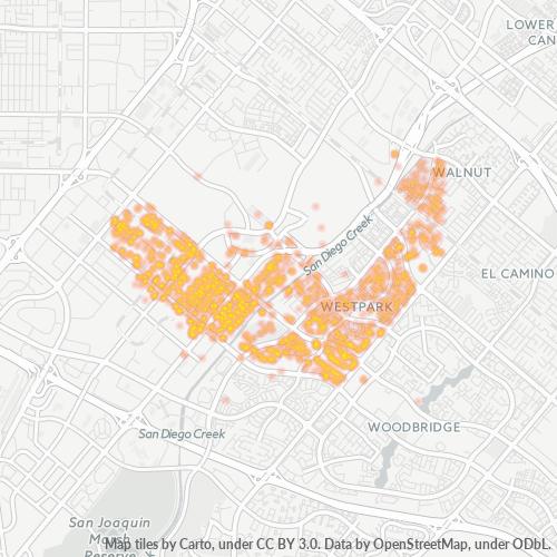 92606 Business Density Heatmap