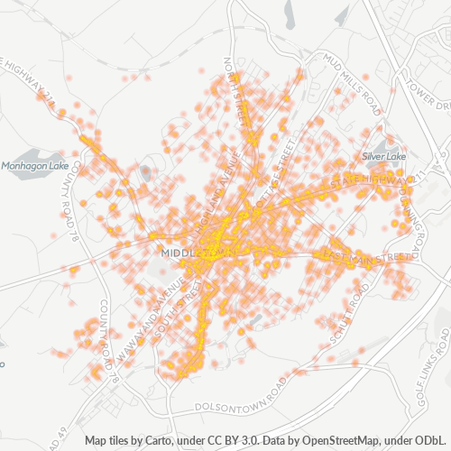 10940 Business Density Heatmap