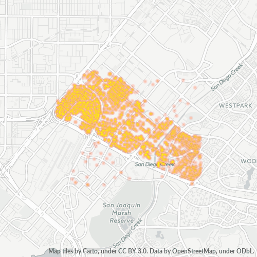 92614 Business Density Heatmap